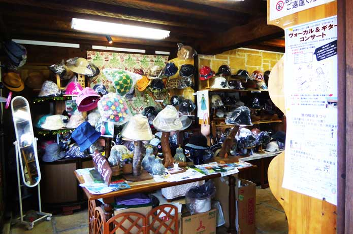 ローズマリー公園の帽子屋の店内