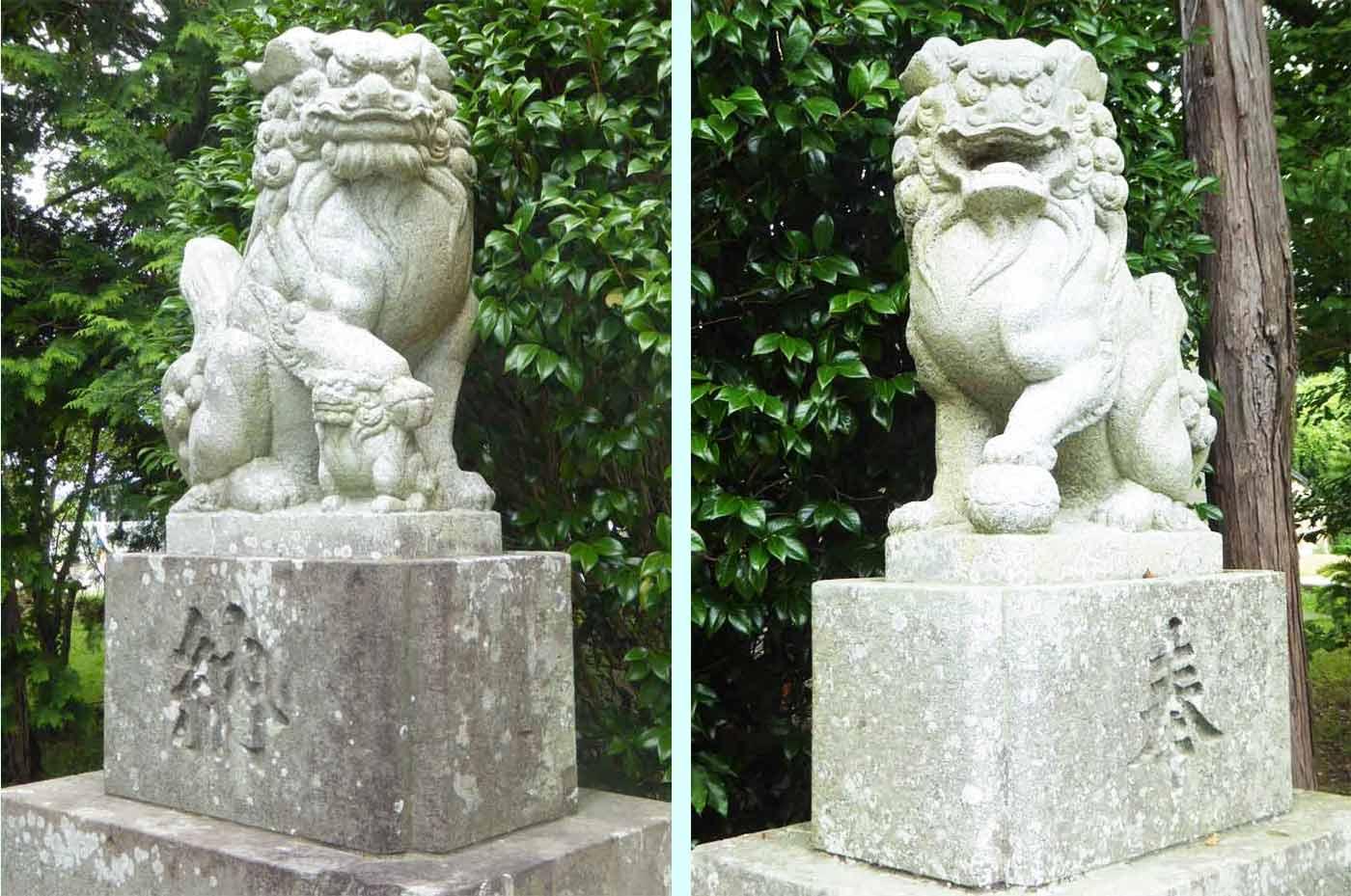龍神社の狛犬