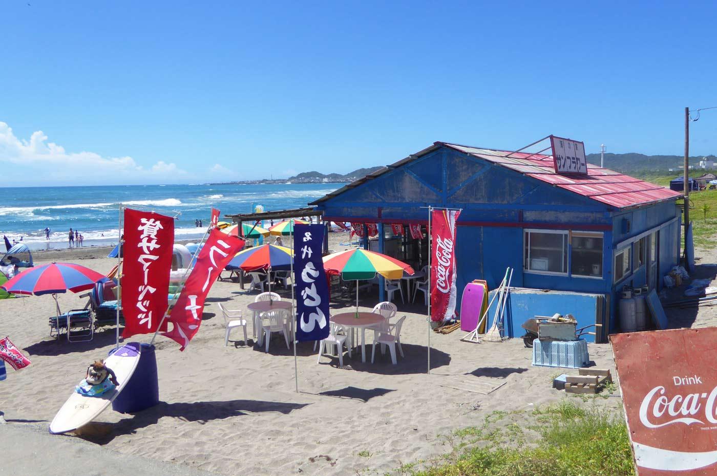 瀬戸浜海水浴場の海の家