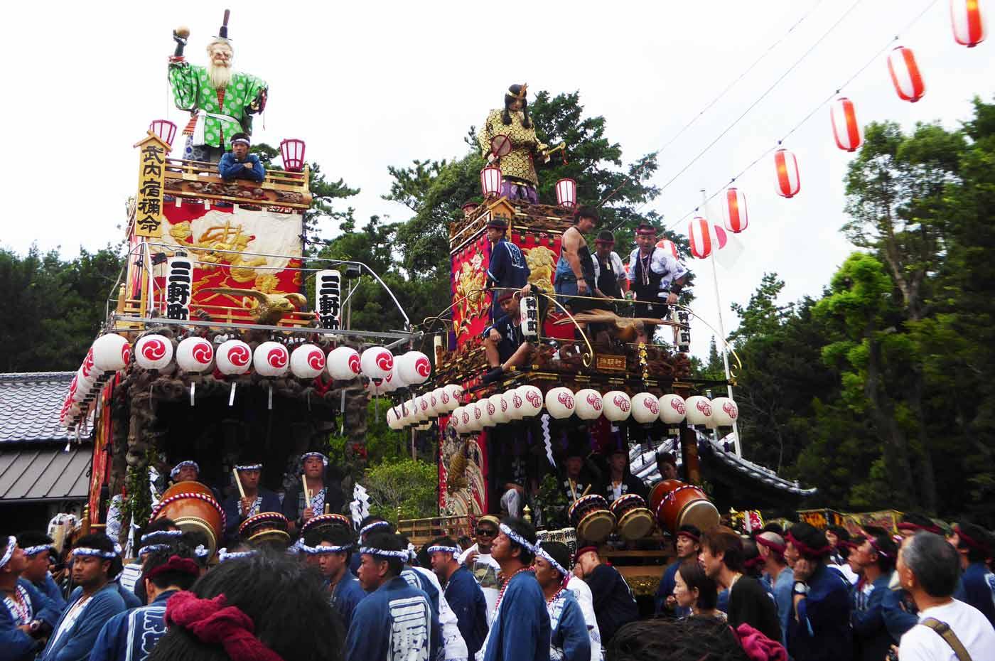神明神社の山車