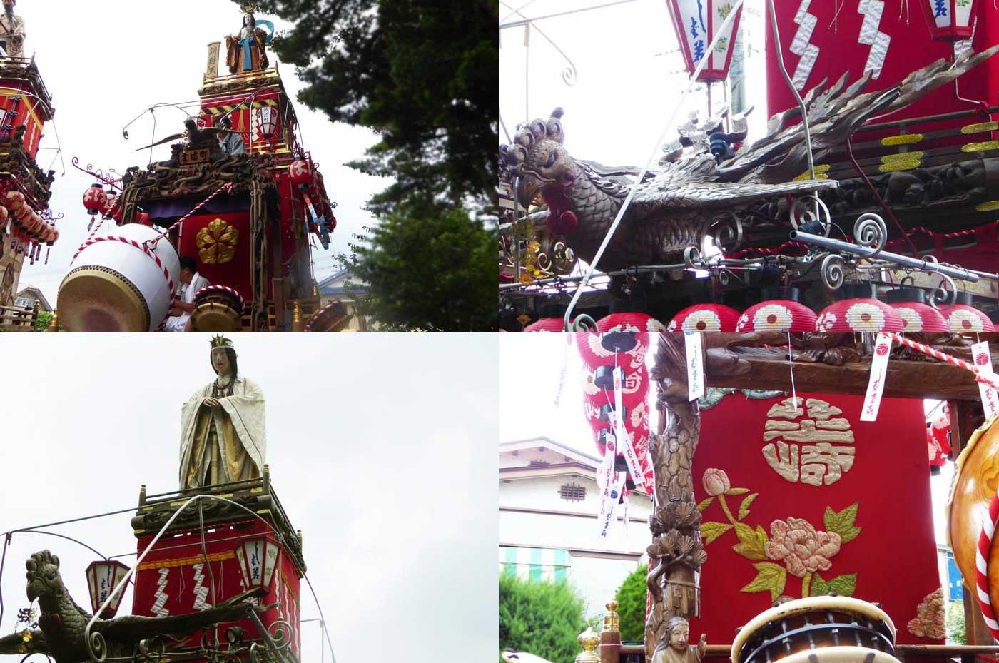 那古の祭礼 芝崎の山車