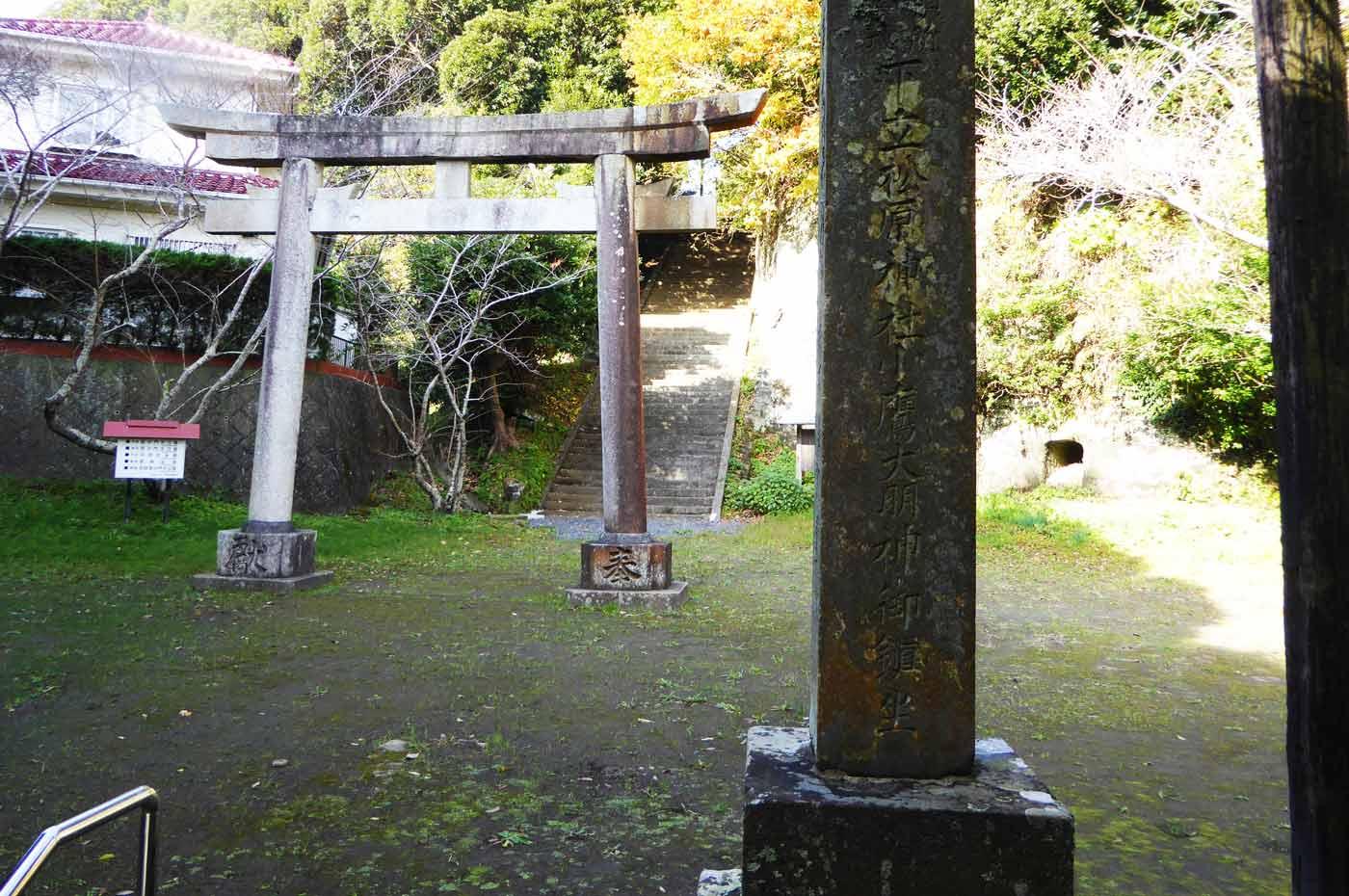 下立松原神社の最初鳥居