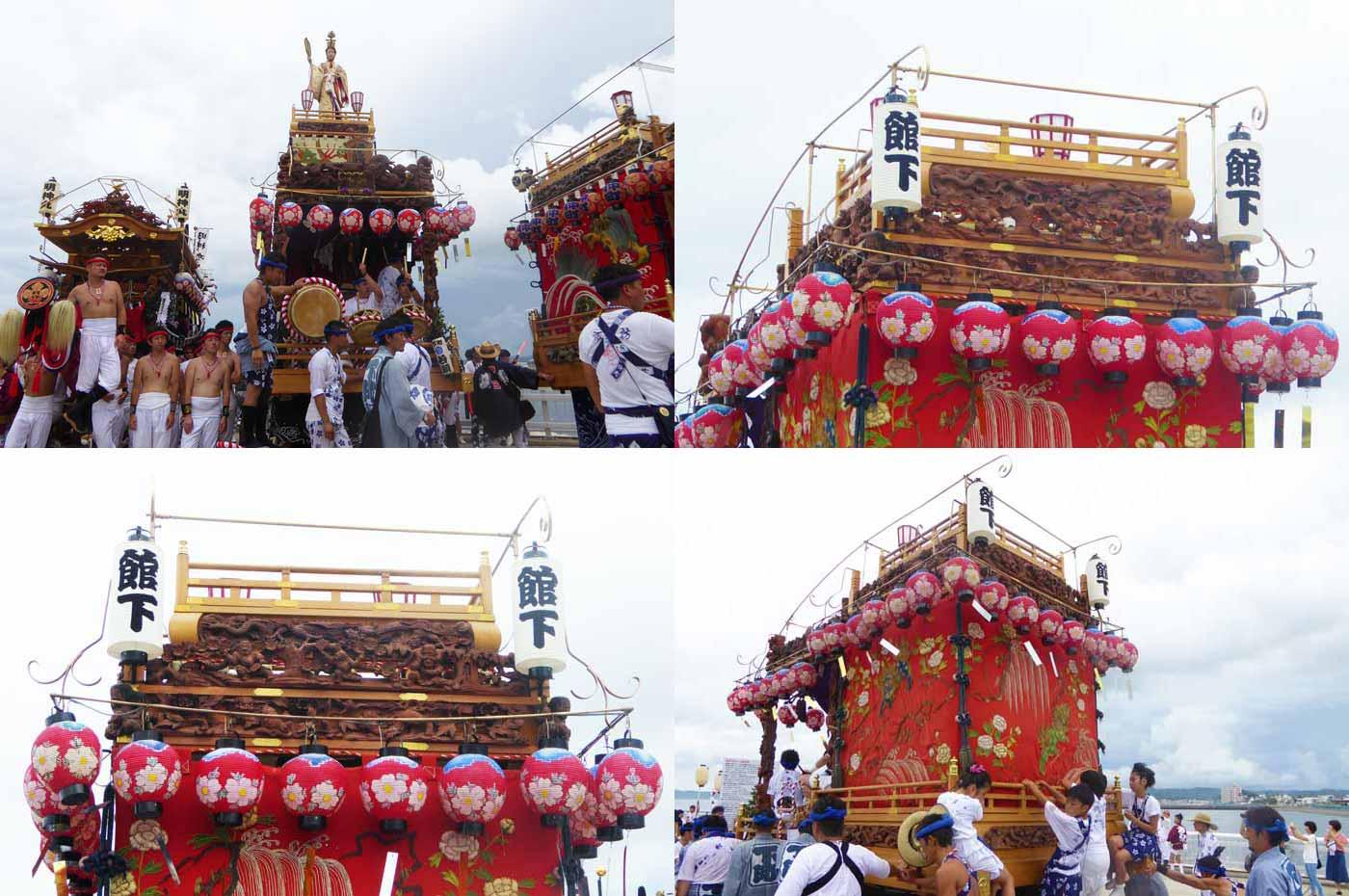 館山の祭り 下町の山車