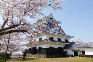 館山城の天守閣の画像