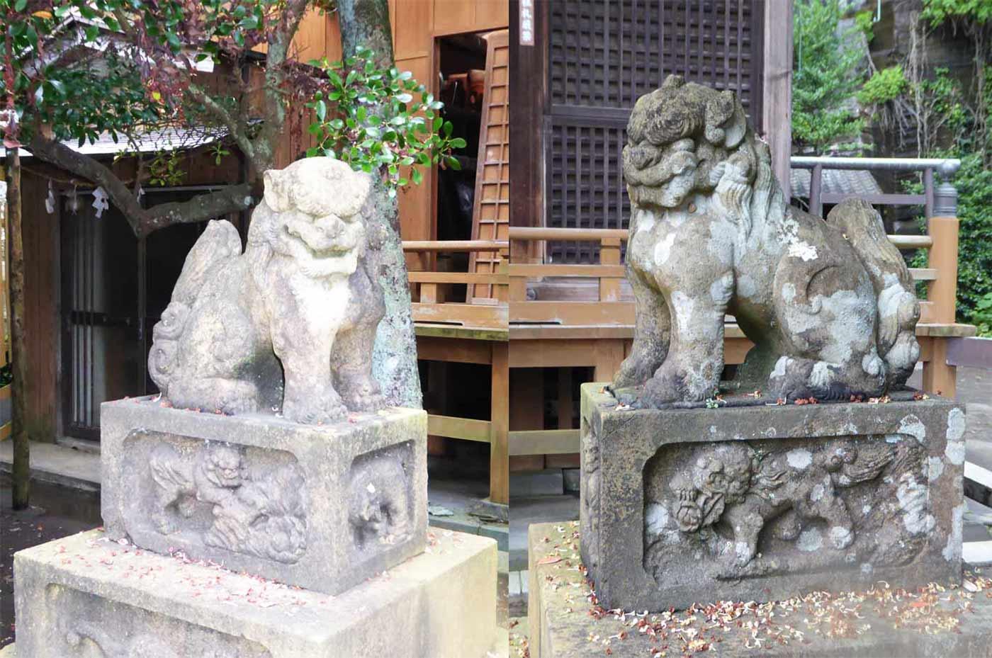 訪神社の狛犬