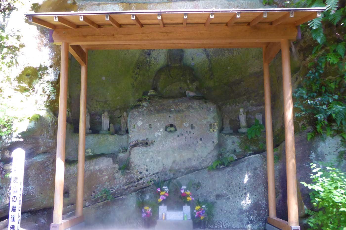 磨崖仏の画像