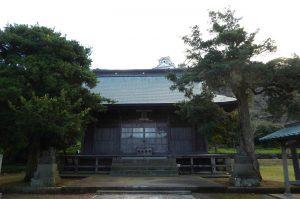 館山神社の拝殿の写真