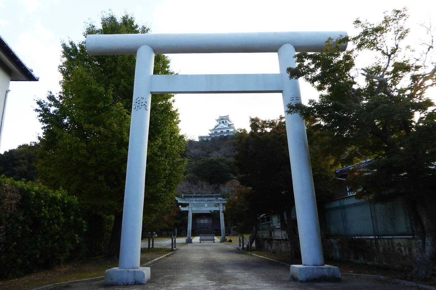 館山神社一の鳥居の写真