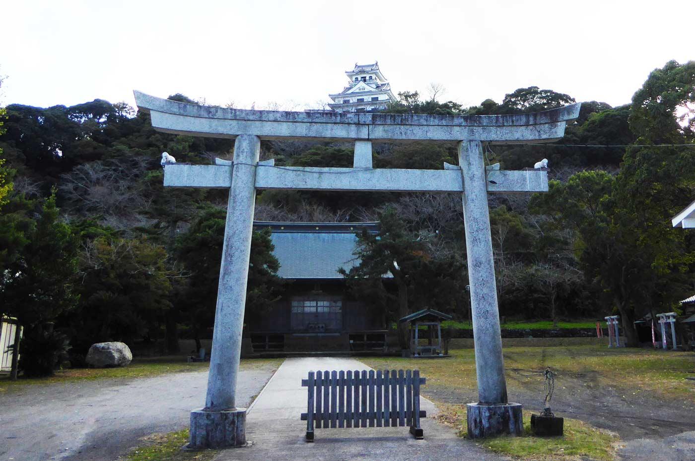 館山神社二の鳥居の写真