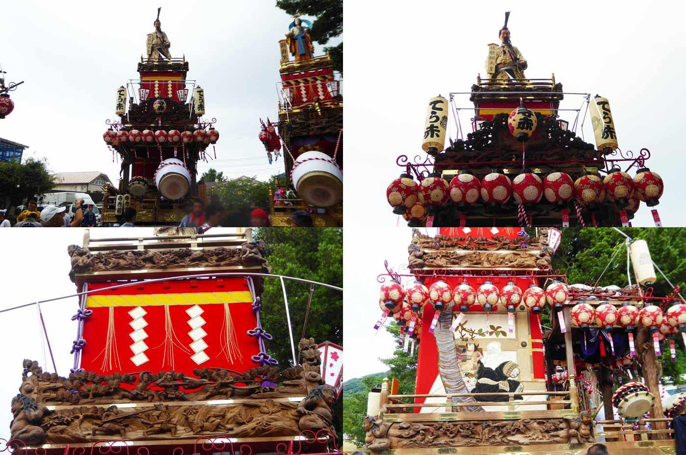 那古寺の祭礼 寺赤の山車