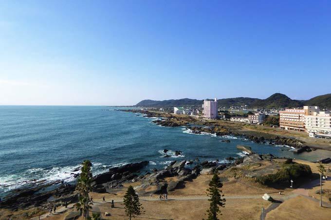 野島崎灯台からの眺望 西側