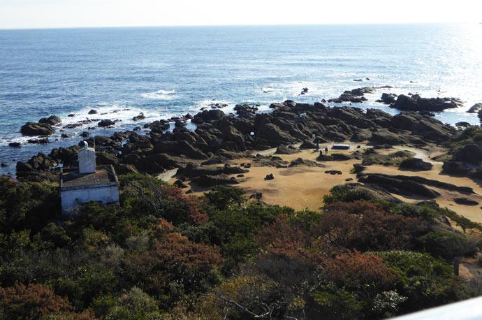 野島崎灯台からの眺望 南側