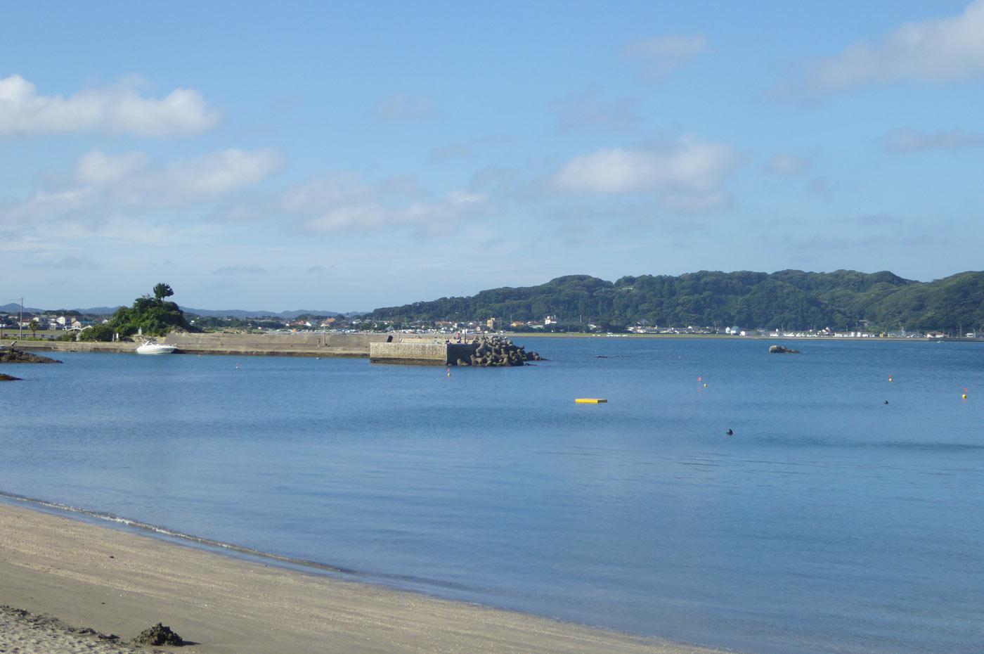 豊岡海水浴場 富浦旧港のアップ画像