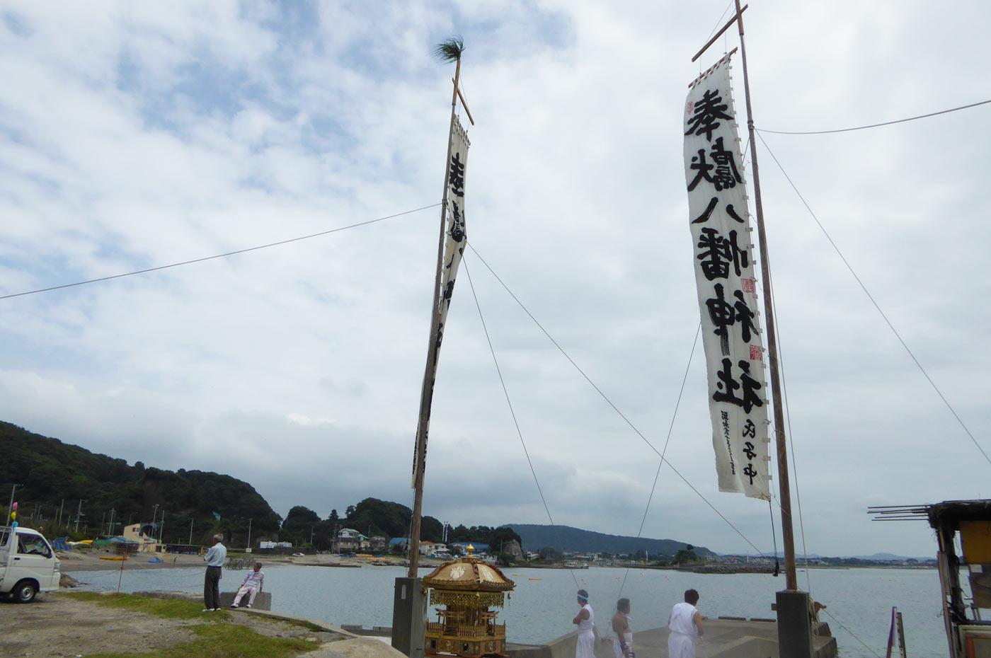 豊岡海水浴場 富浦地区の祭り