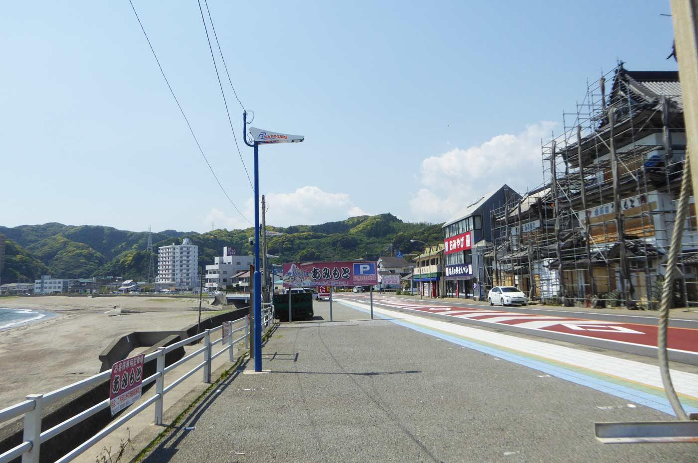 内浦海水浴場周辺の飲食店街の画像