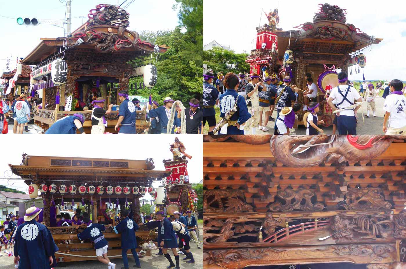 船形諏訪神社例祭 柳塚区の屋台