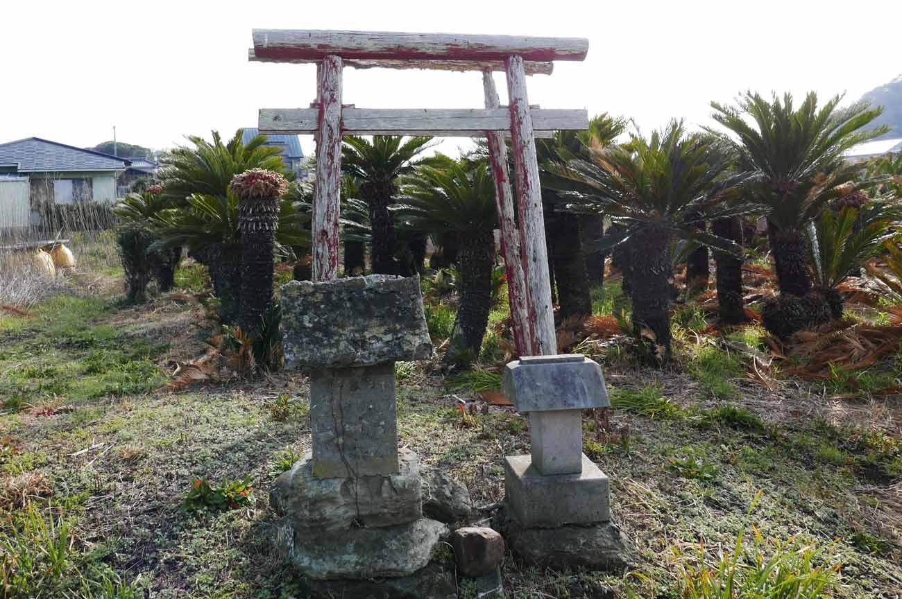 八坂神社前の赤い鳥居の画像