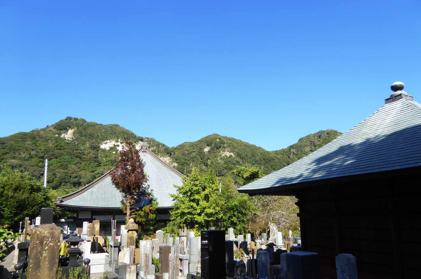 天面善光寺の裏庭からの眺望