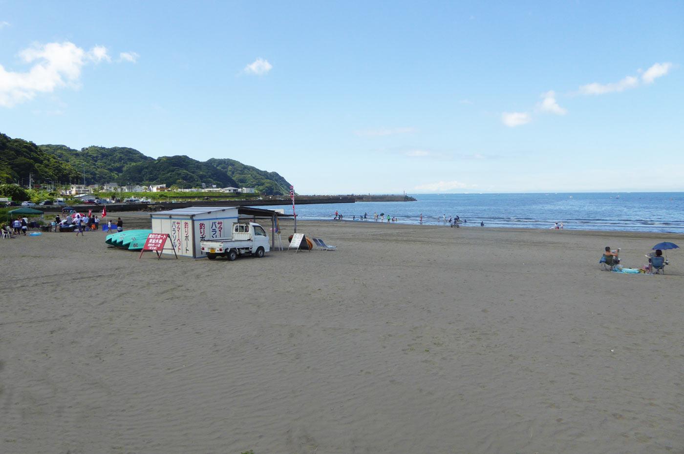 岩井海岸のレンタルボートの画像