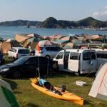 多田良北浜キャンプ場のテント区画