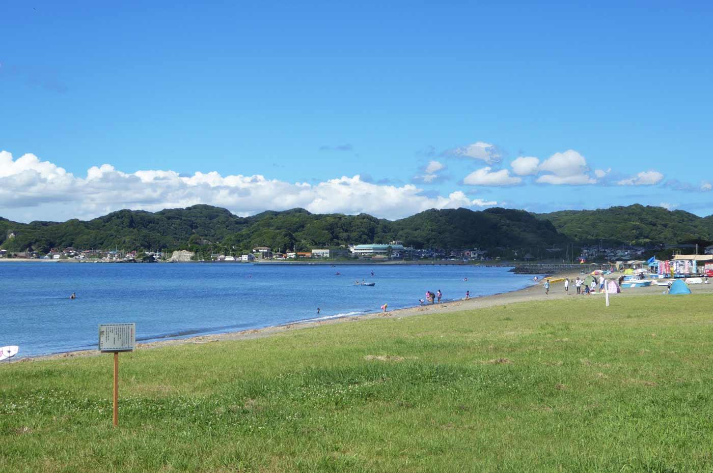 多田良北浜海水浴場のキャンプ場