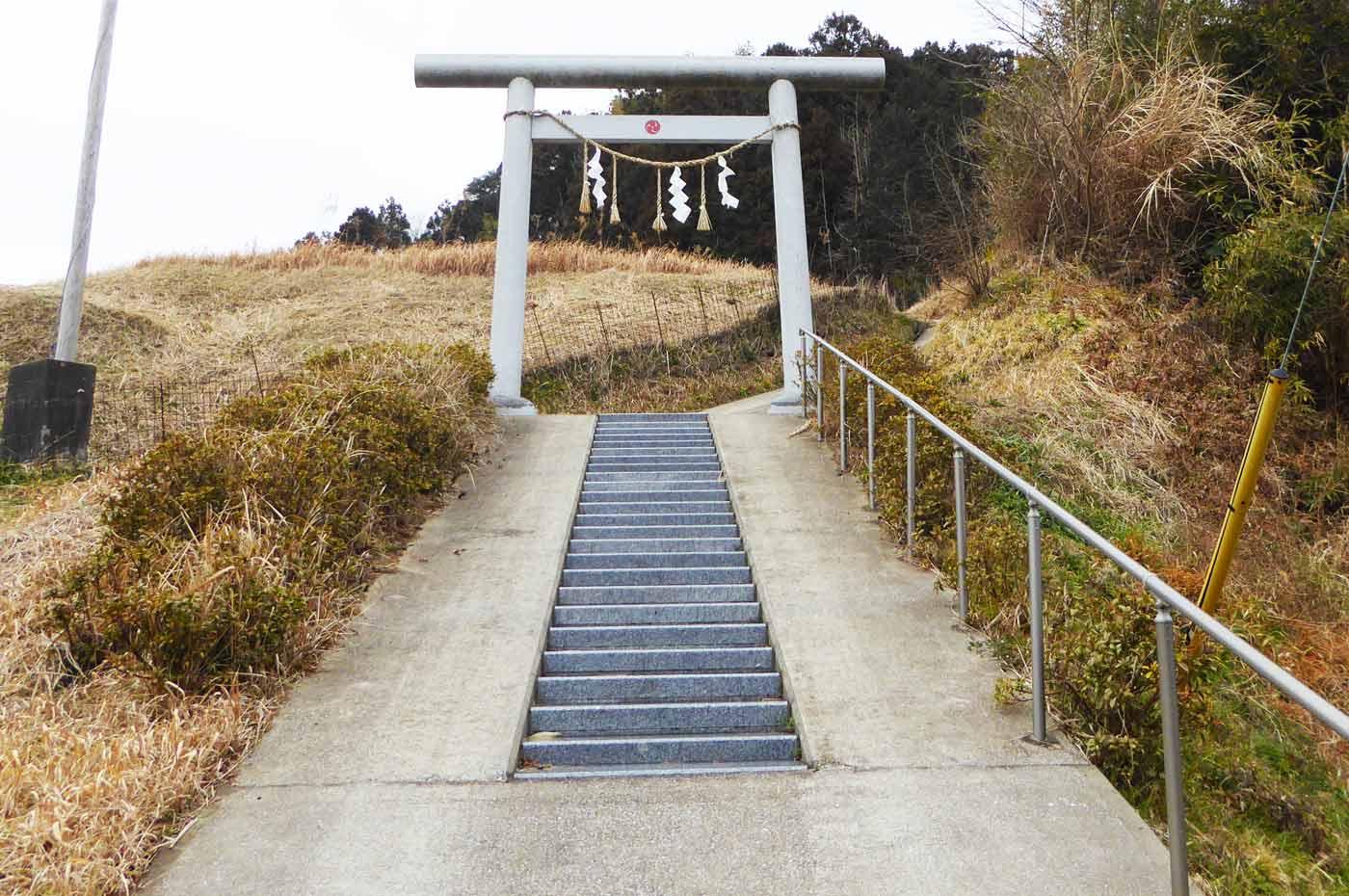 入口の階段の画像