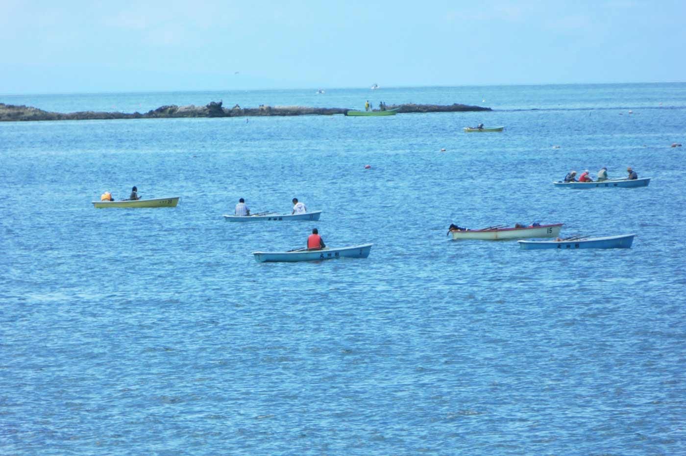 岩井海岸のボート釣り風景