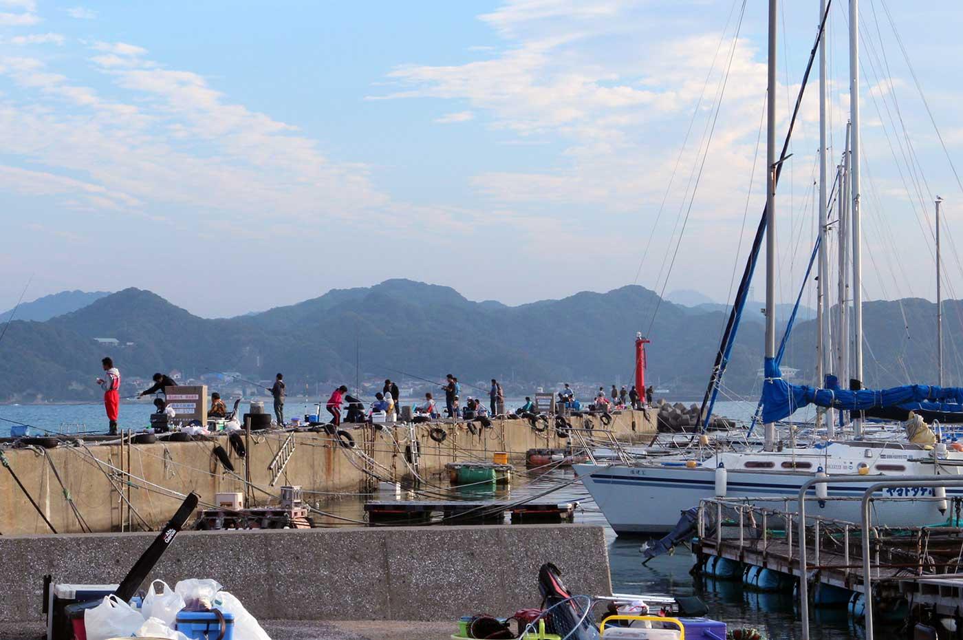 関東地方唯一のイカダ釣り場
