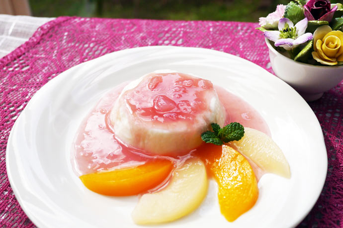 桃なヨーグルトムース
