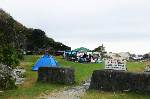 仁右衛門島のバーベキュー場の画像