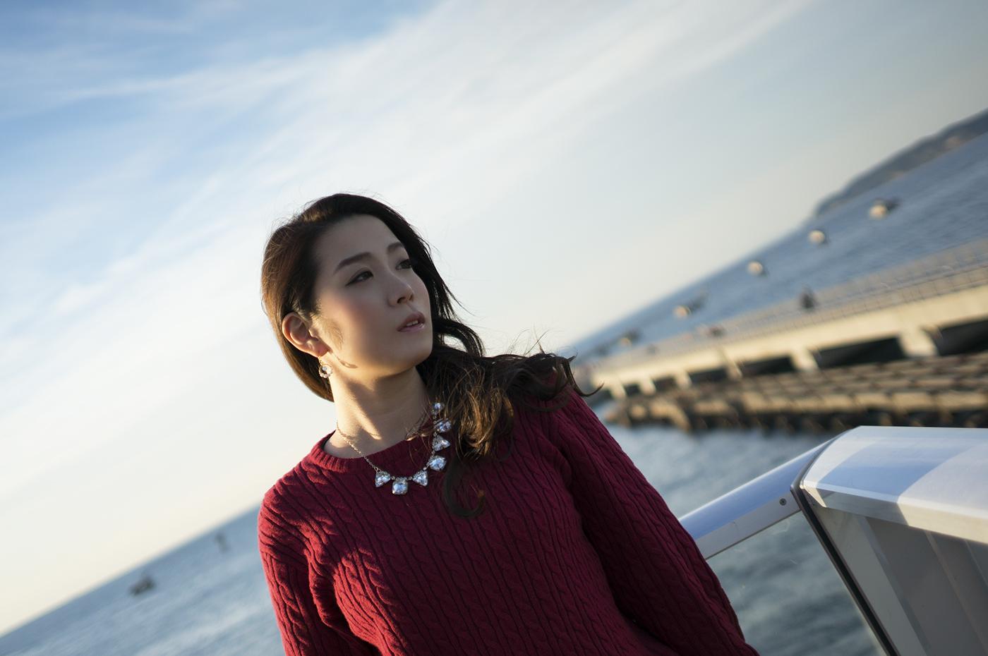 館山夕日桟橋 | 夕日を背に思い耽る