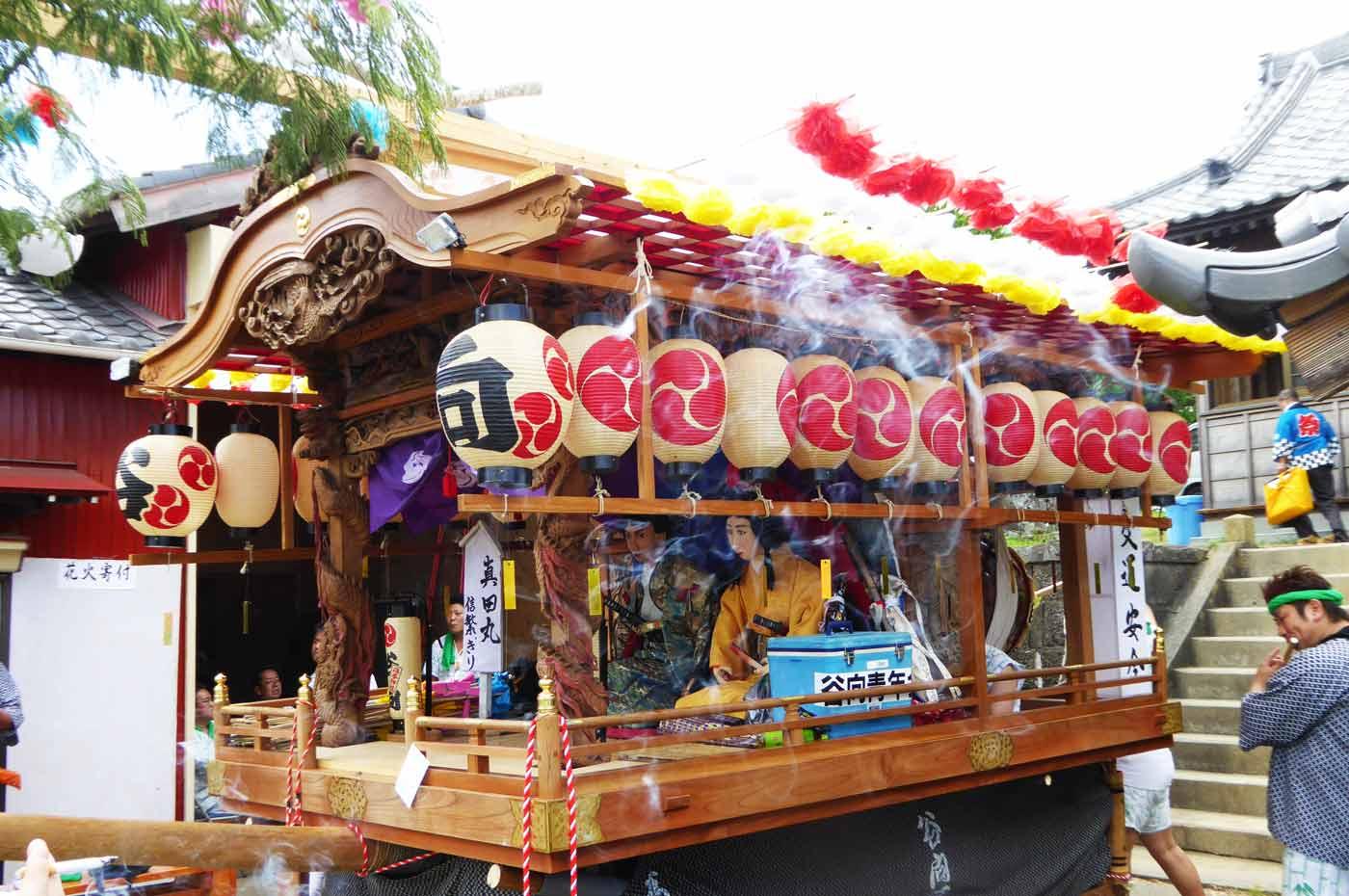 高子神社の屋台