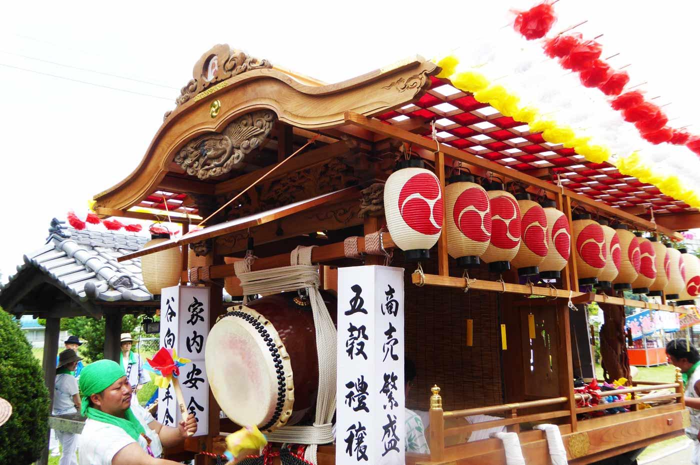 高子神社の大鼓