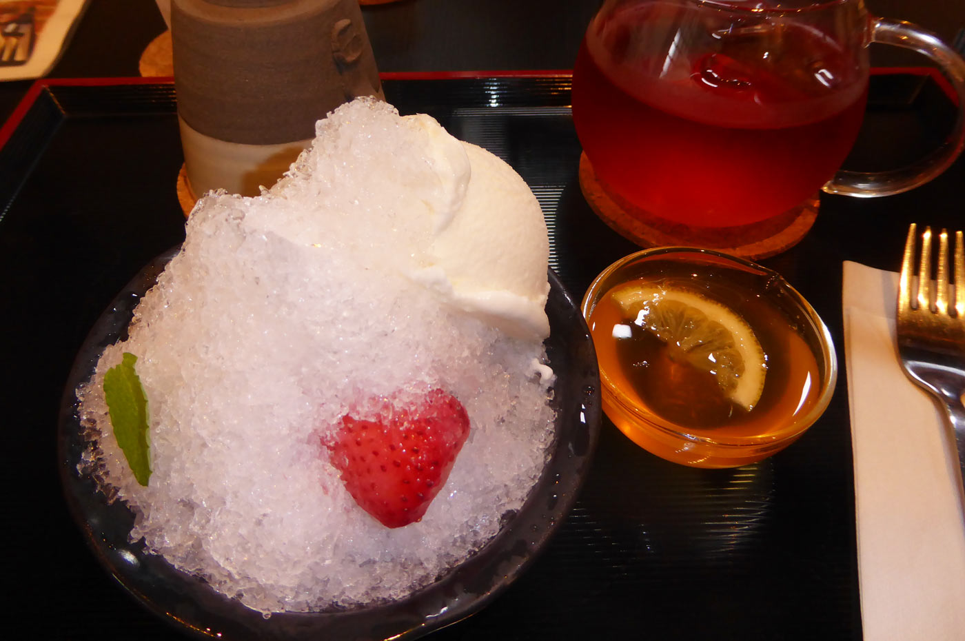 一二三養蜂園 カフェ123の蜂蜜かき氷