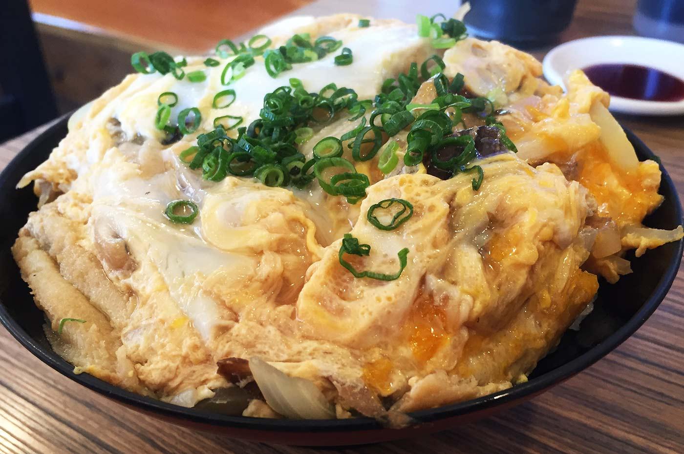 アナゴ&卵丼の画像