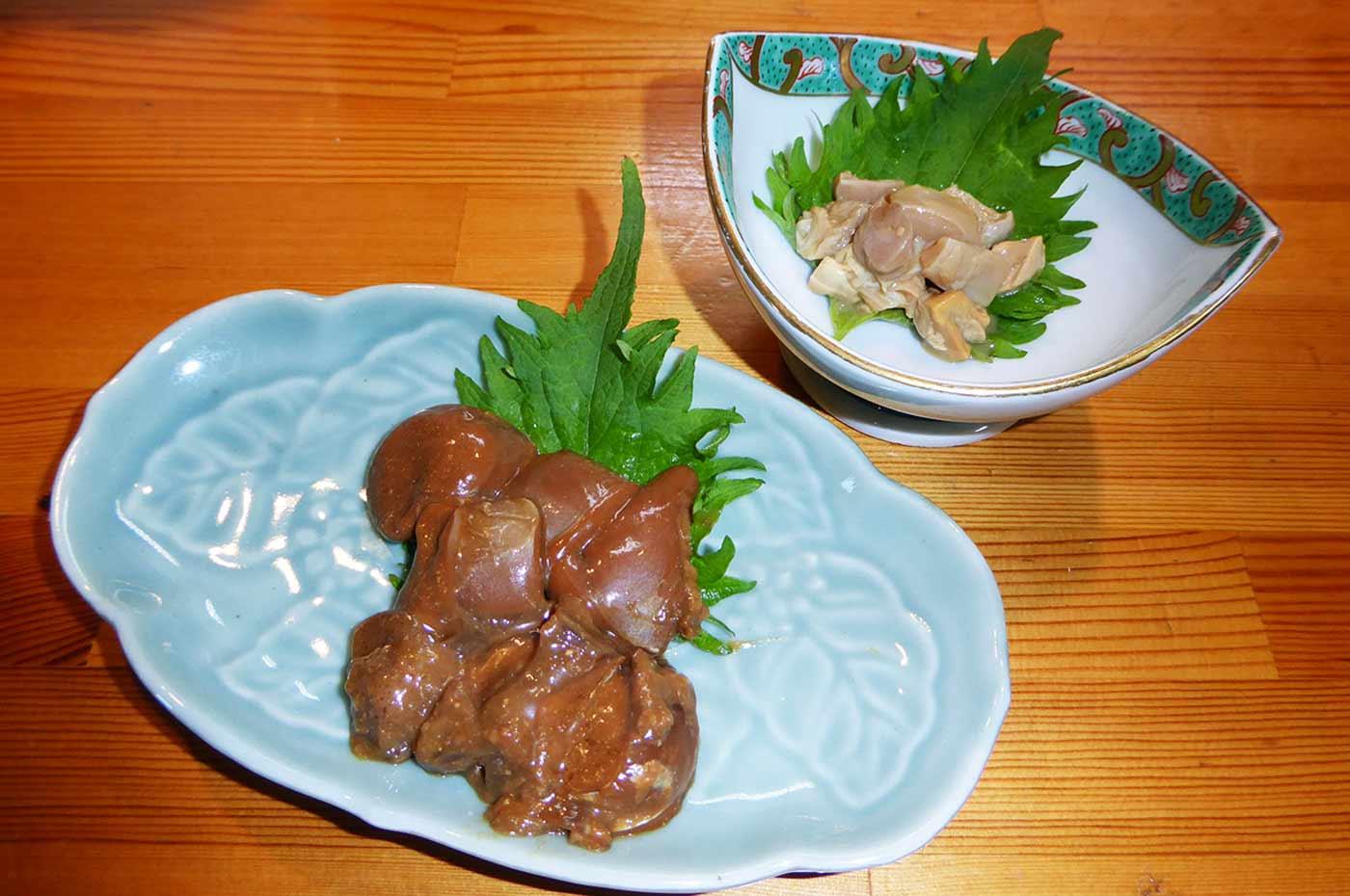 イカ肝味噌漬とカジキの塩辛の画像