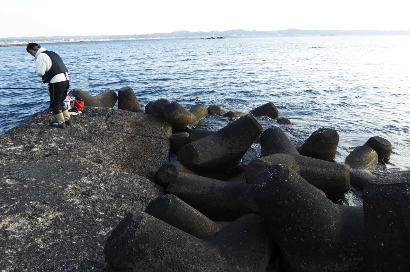 丸山堤防の先端
