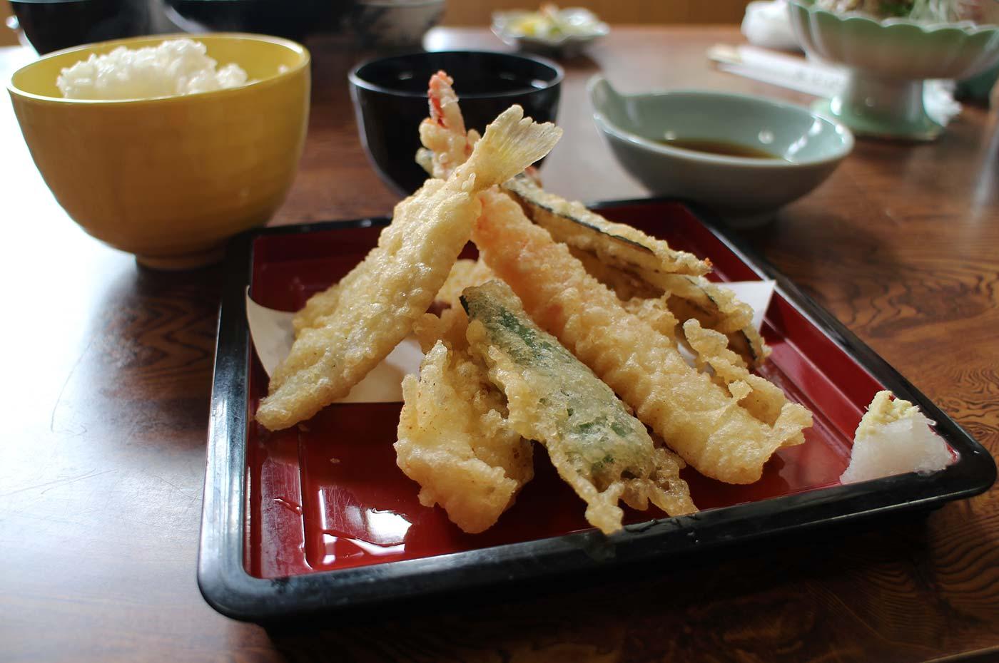福喜庵の天ぷら定食