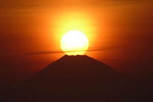 原岡海岸のダイヤモンド富士