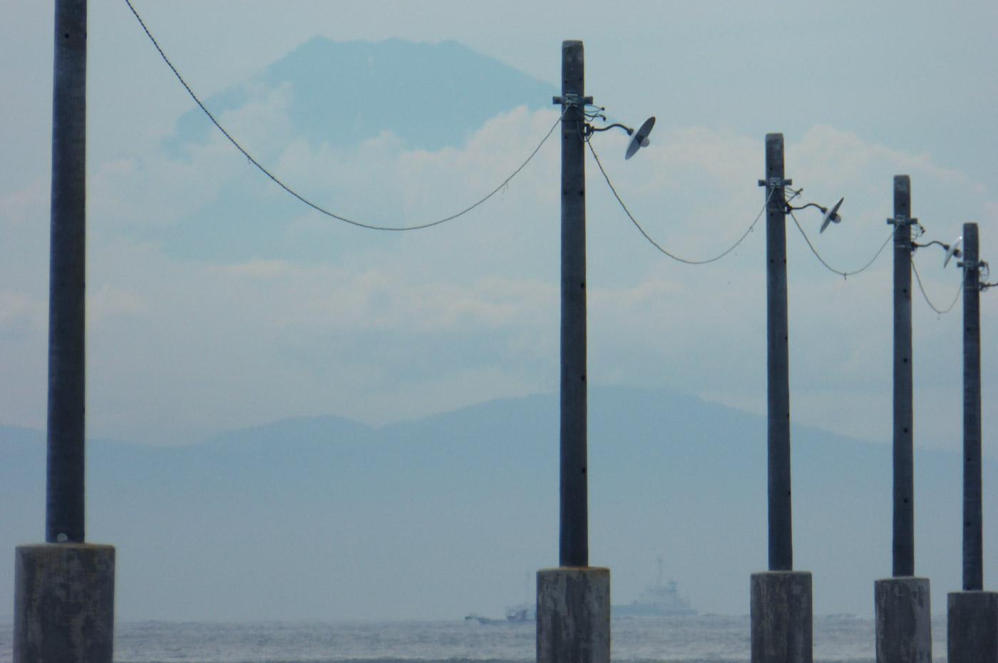 原岡桟橋の富士山(望遠)