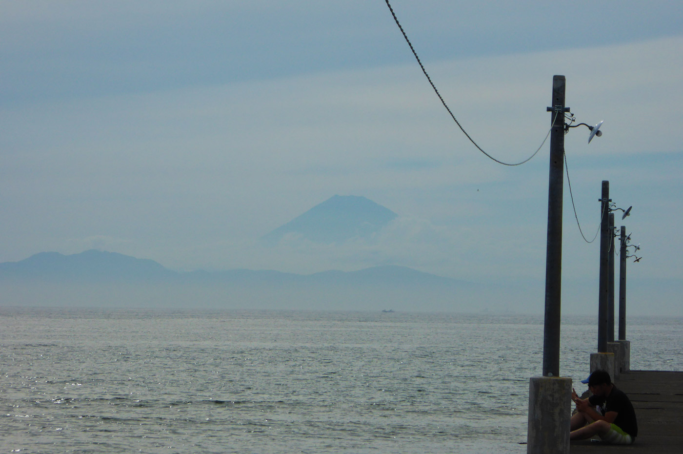 原岡桟橋の富士山
