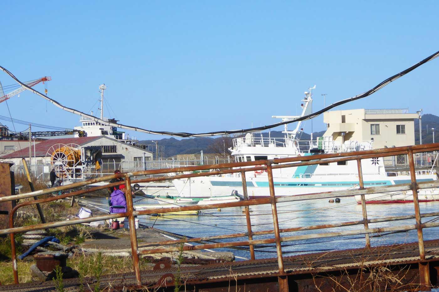 館山港の自衛隊堤防寄りのポイント