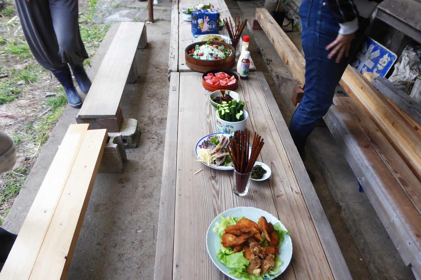 古民家での昼食会