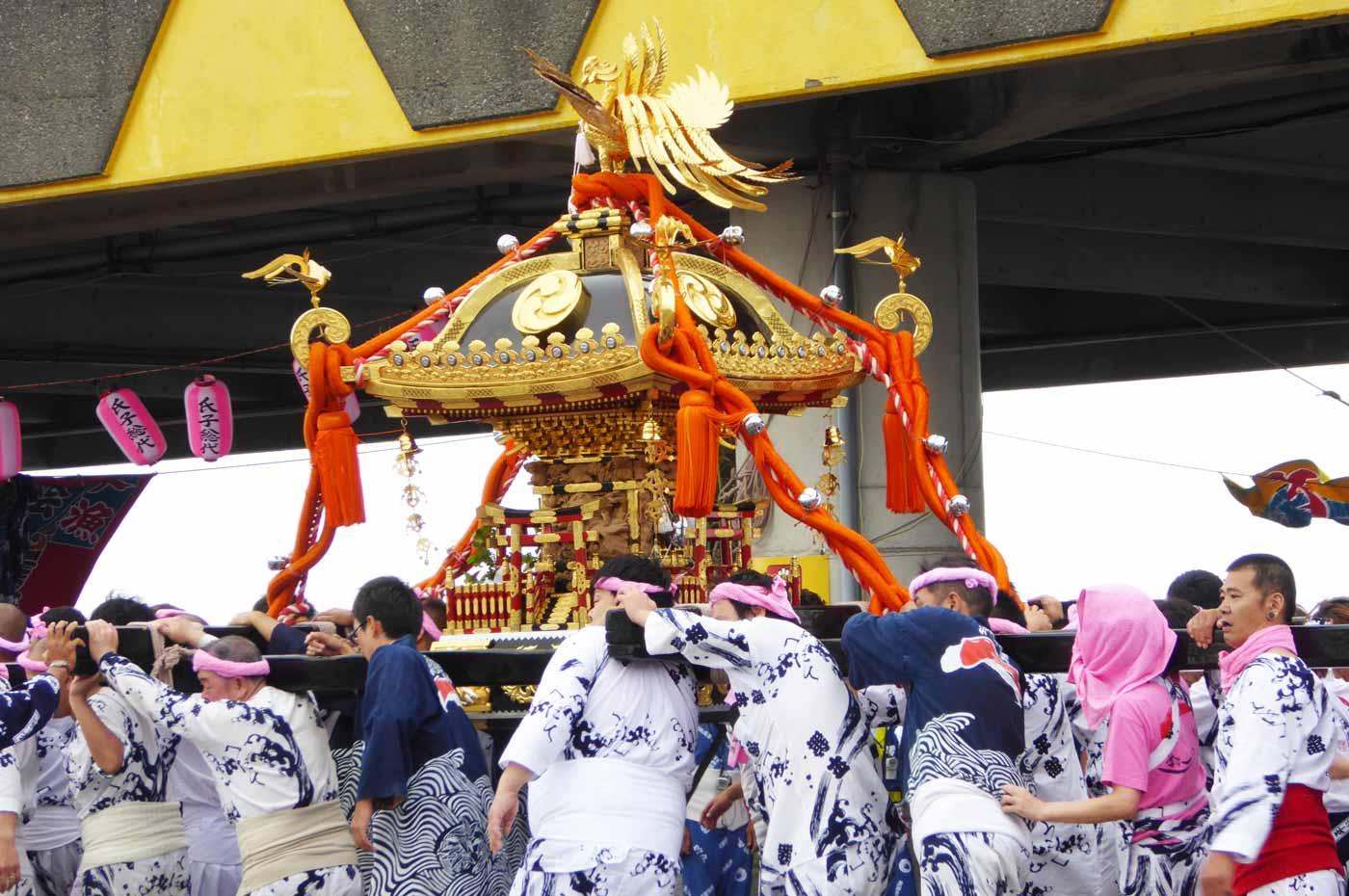 川口地区の神輿