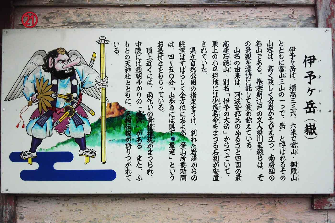 平久里天神社の登山案内板