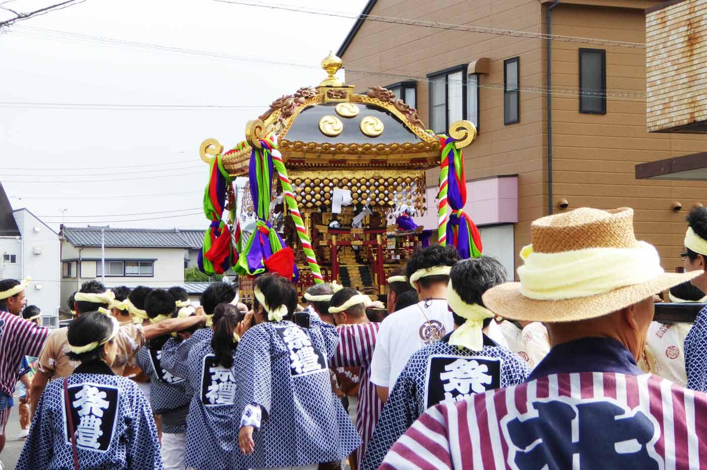 北千倉の神輿
