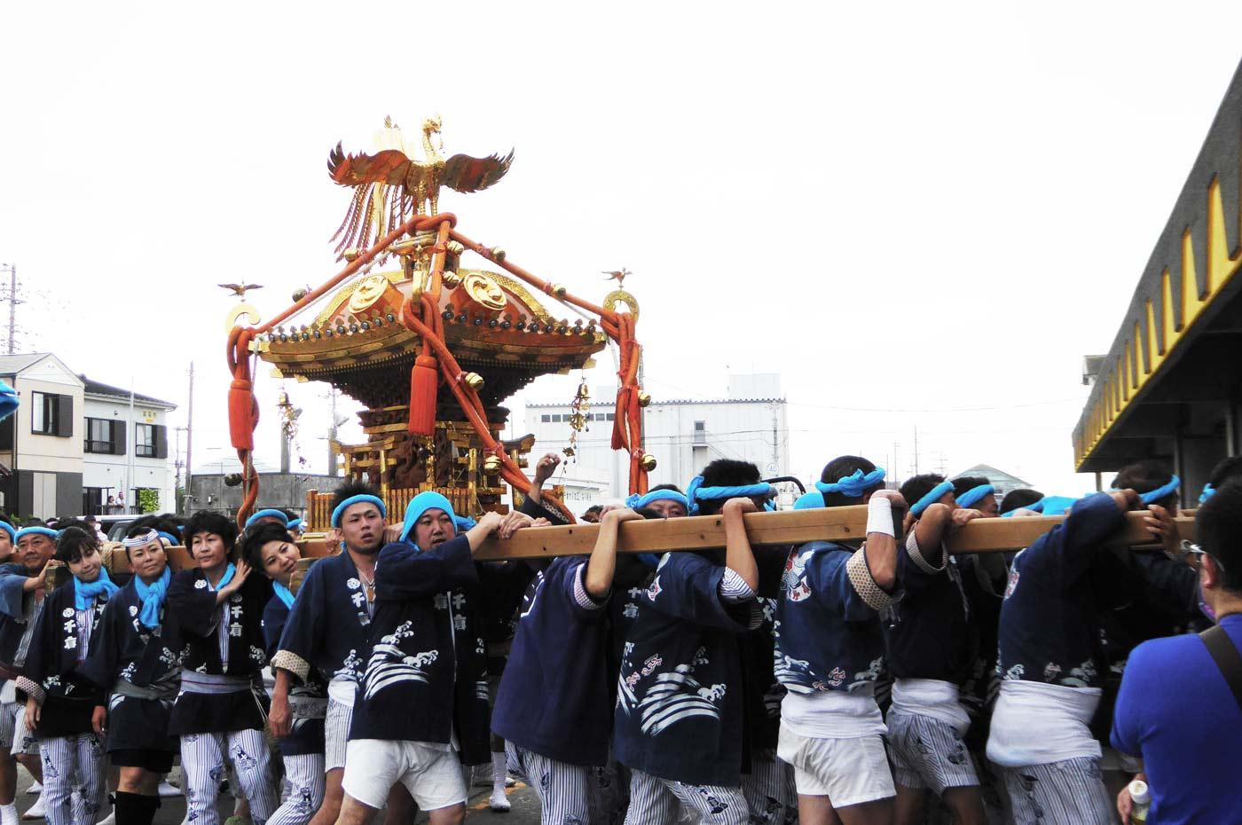 南千倉地区の神輿