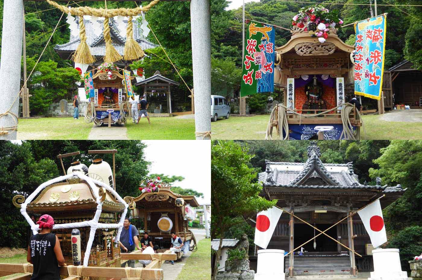 南無谷 豊受神社の屋台と神輿