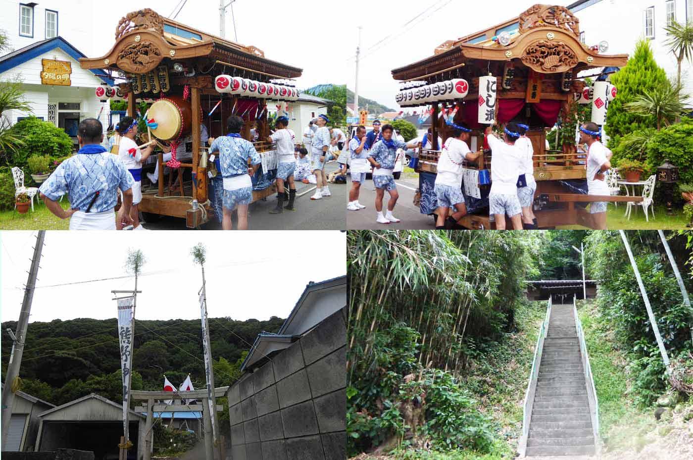 多田良西浜 熊野神社の祭礼の様子