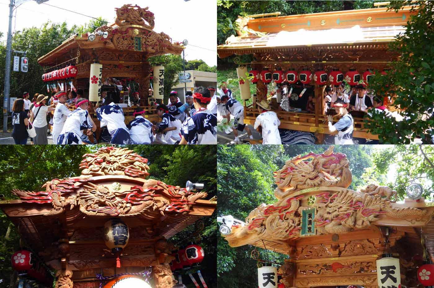 多田良岡 天満宮の祭礼の様子